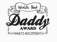 Worlds Best Daddy Logo