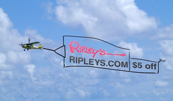 Flying Ad Banner by Ripley's
